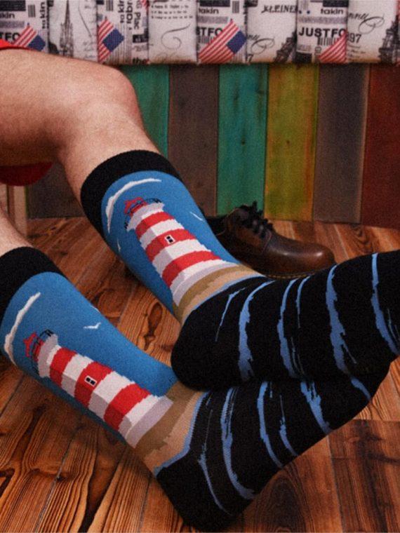 Medias Locas calcetines divertidos de diseño de faro Freaky Socks