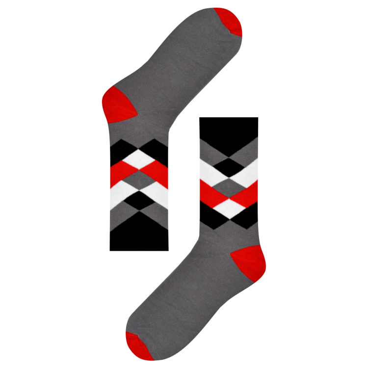 Medias Locas calcetines divertidos de diseño sobrepuesto Freaky Socks