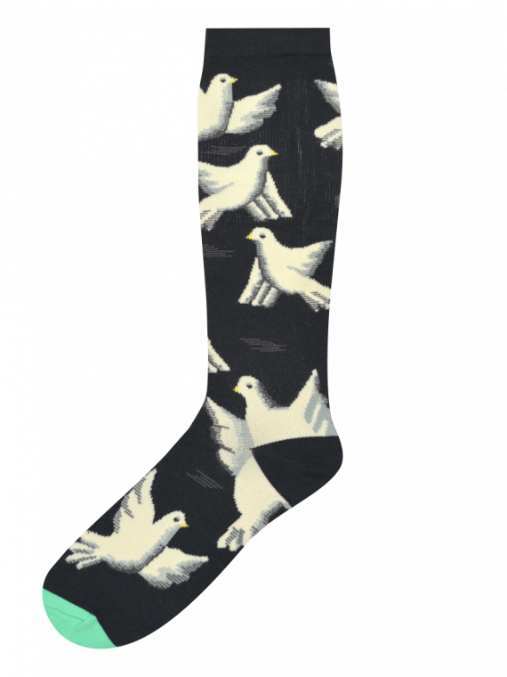 Medias compresión Locas calcetines divertidos de diseño de palomas Freaky Socks
