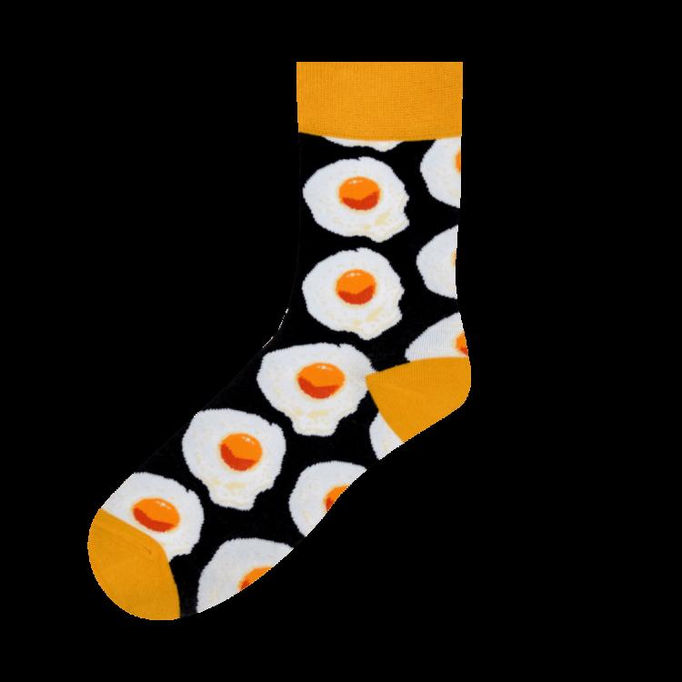 Medias Locas calcetines divertidos de diseño de huevito frito Freaky Socks
