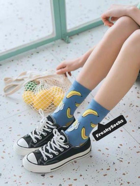Medias Locas calcetines divertidos de diseño de bananos Freaky Socks