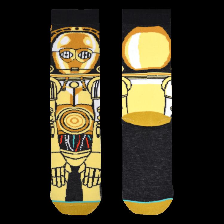 Medias Locas calcetines divertidos de diseño de Star Wars C-3PO Freaky Socks