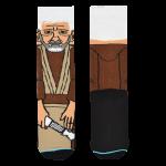 Medias Locas calcetines divertidos de diseño de Star Wars Obi Wan Kenobi Freaky Socks
