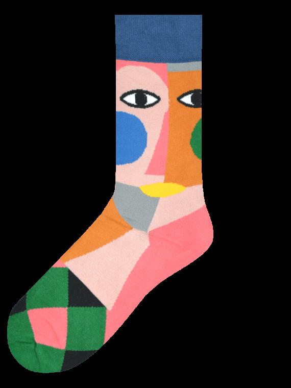 Medias Locas calcetines divertidos de diseño de cubismo Freaky Socks